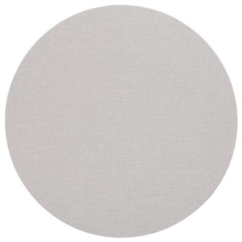 Classic Canvas Round Felt-Backed Placemat in Linen
