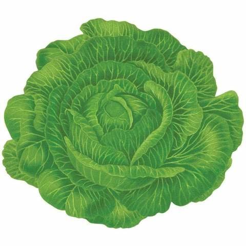Cabbageware Die-Cut Placemat