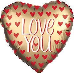 "28""  Love You Gold Jumbo"