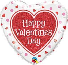"""18"""" Valentine Red Glitter Heart"""