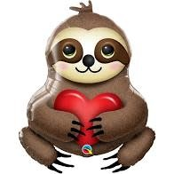 """39"""" Adorable Sloth with Heart"""