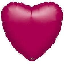 "32"" Fuchsia Heart Shape Mylar Balloon"