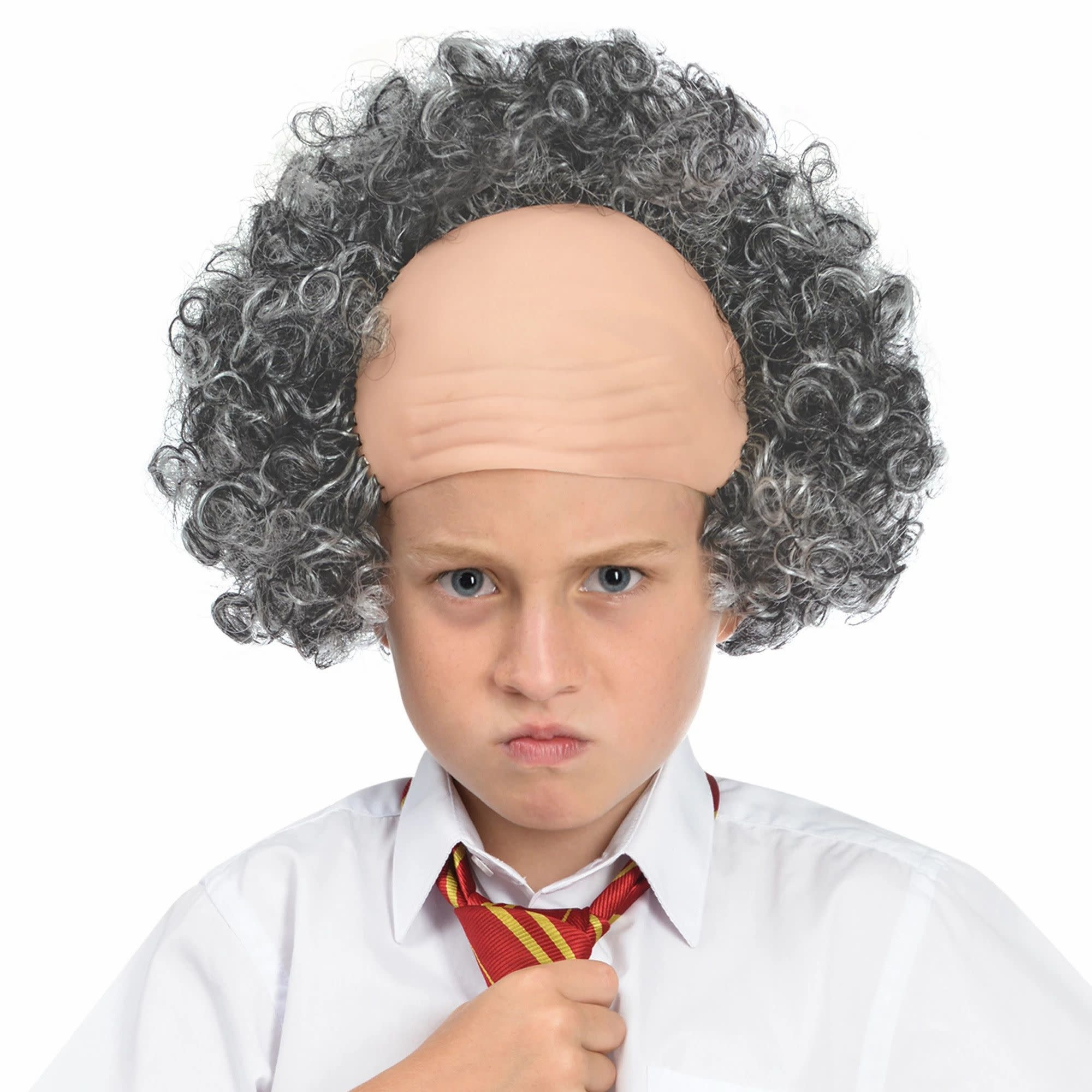 Child Bald Cap With Hair Wig