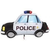 """34"""" Police Car Shape Mylar Balloon"""