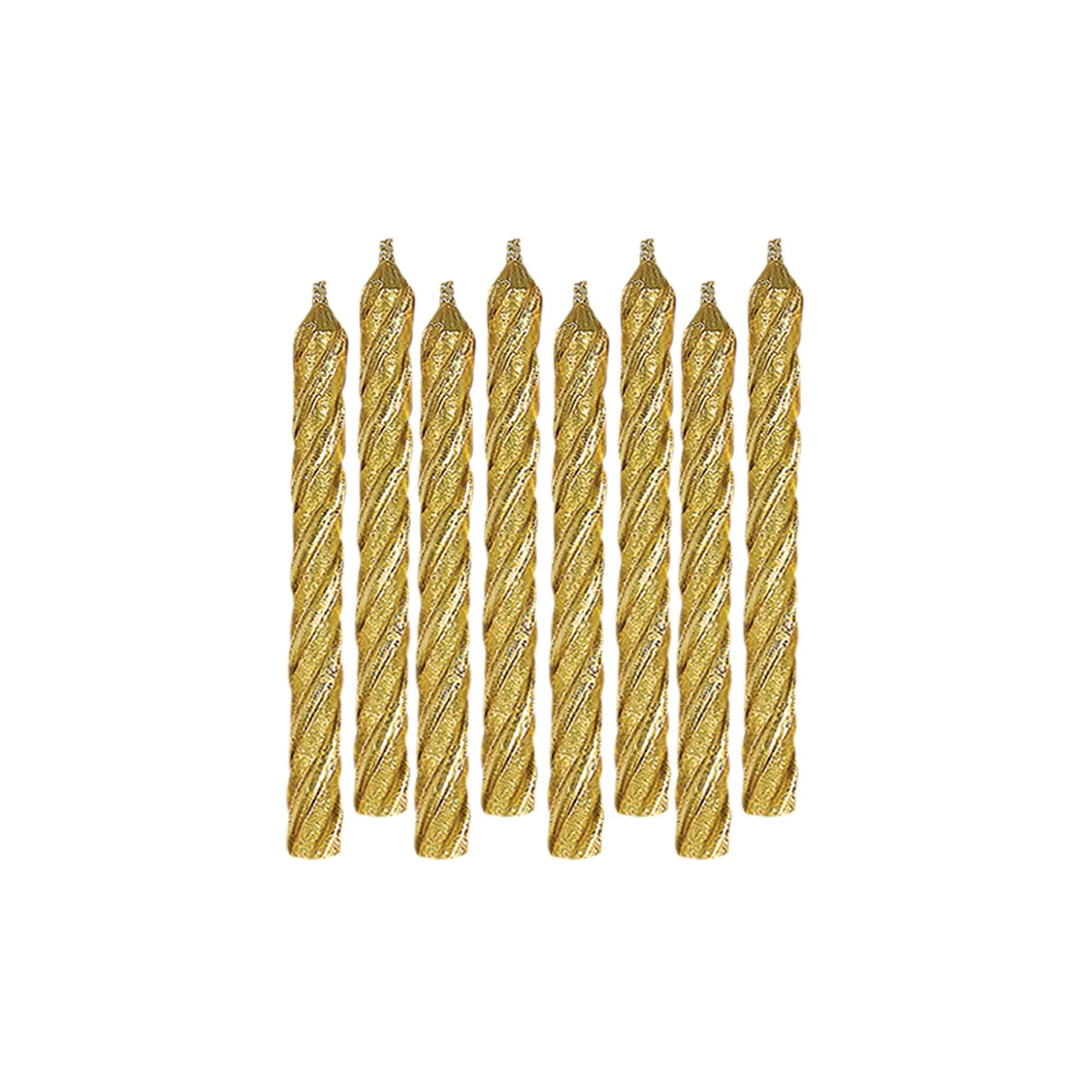 Large Spiral Candles - Gold