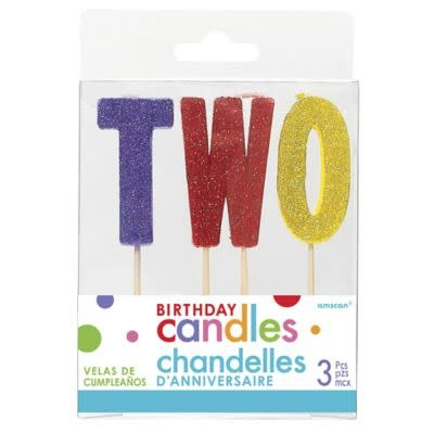 Glitter Candle- Two