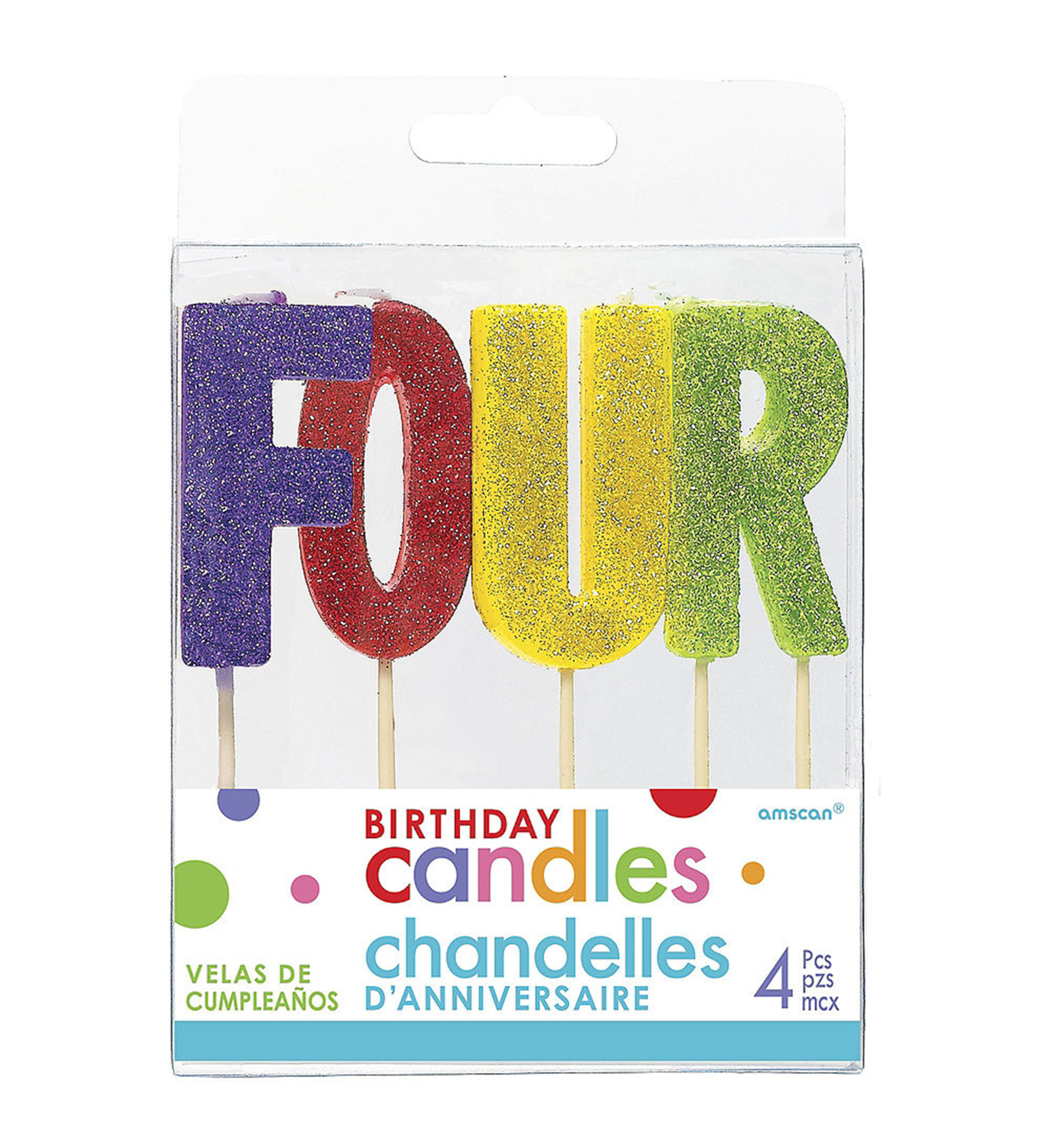 Glitter Candle- Four