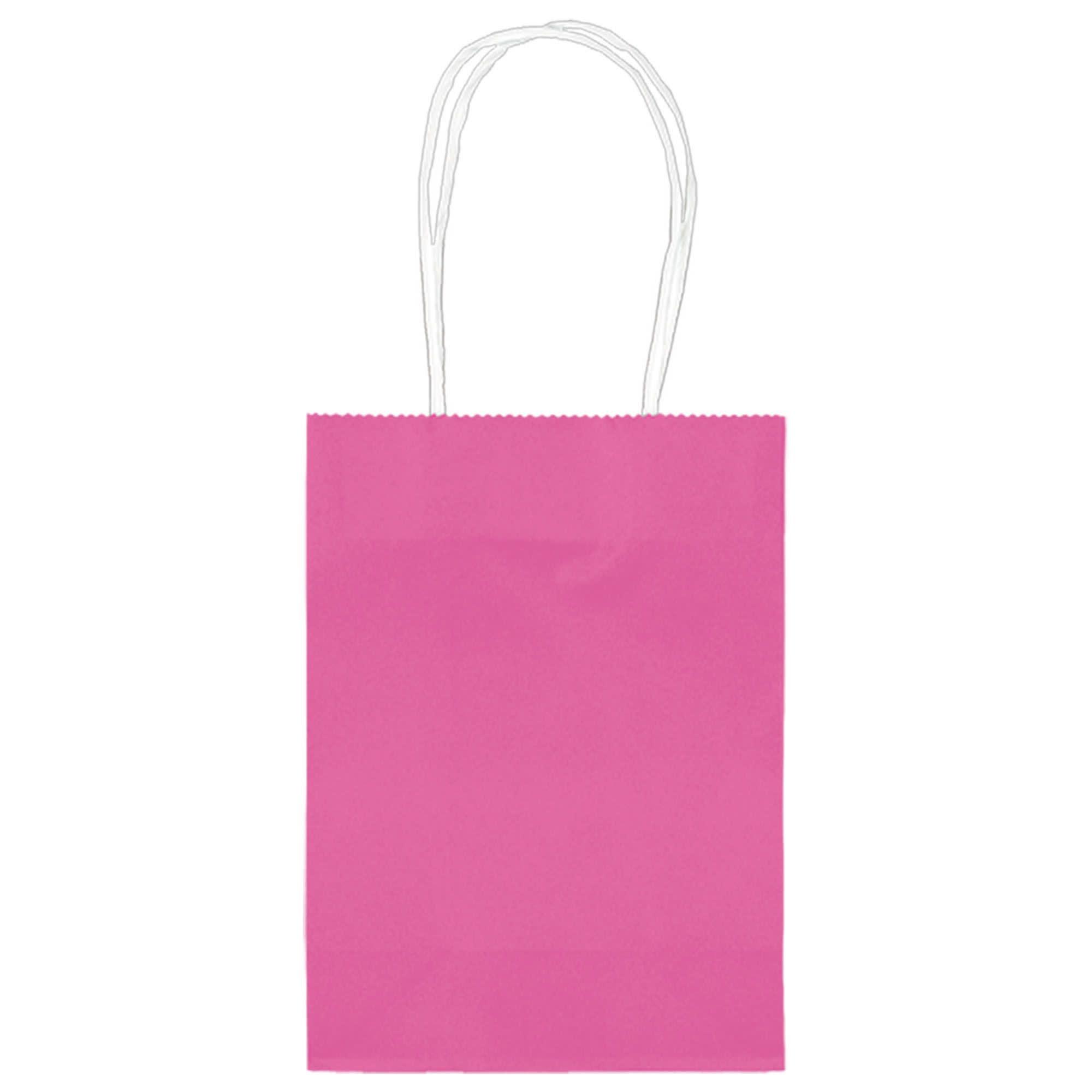 "5"" Kraft Bag - Bright Pink"