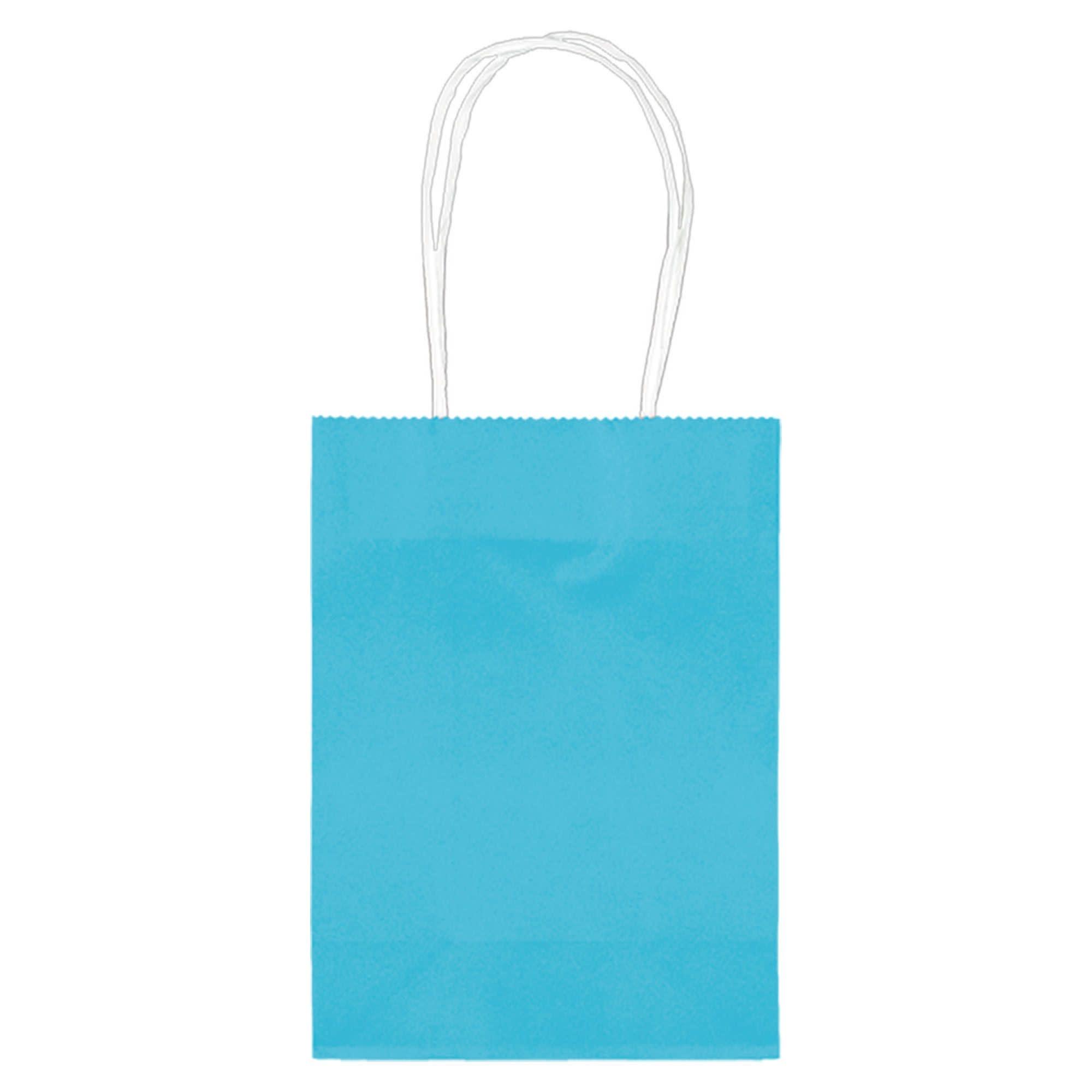 """5"""" Kraft Bag - Caribbean Blue"""