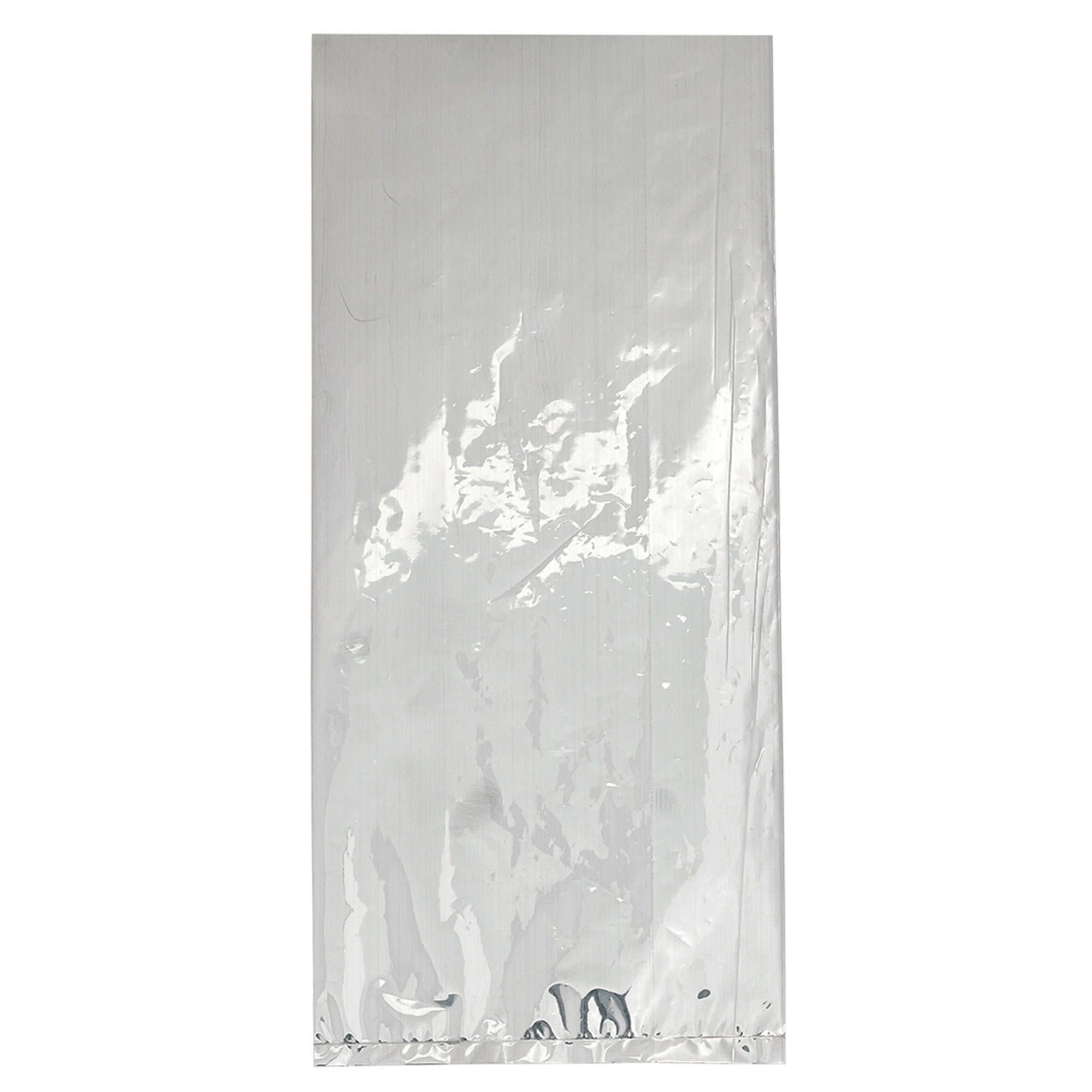 Small Cello Party Bag Silver Foil
