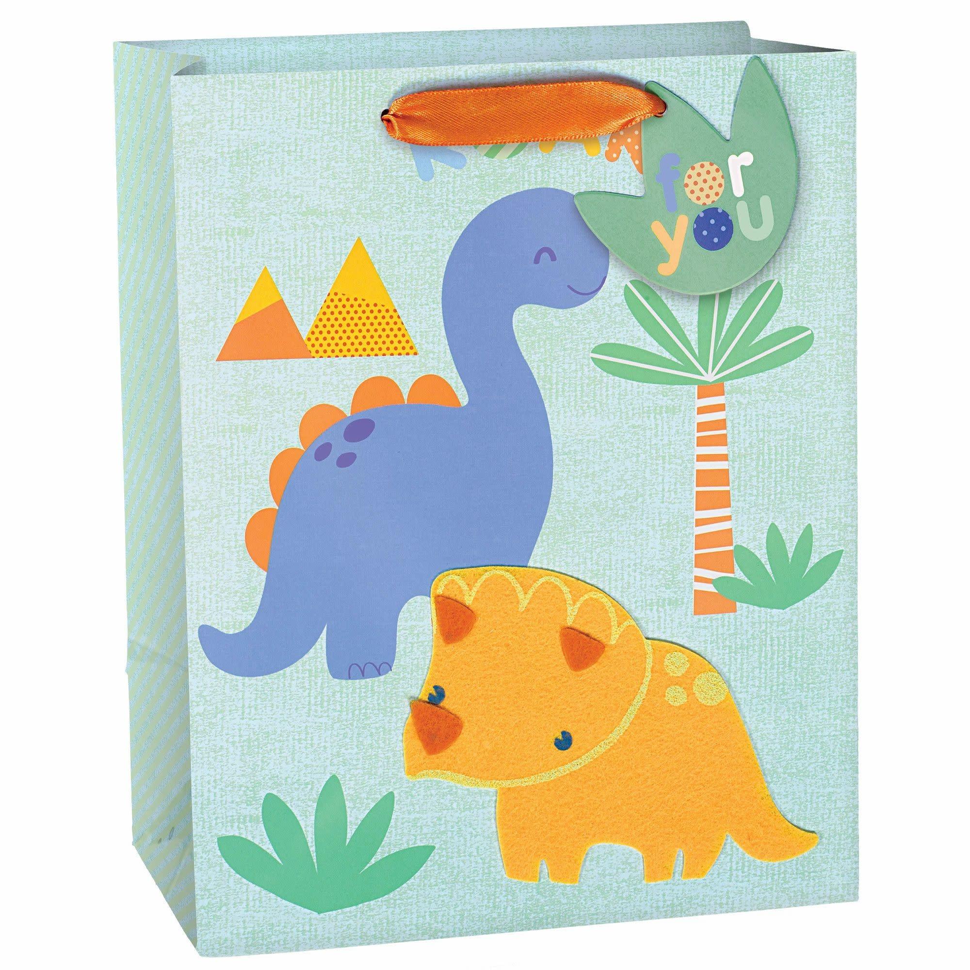 Dinosaur Baby Medium Bag W/ Gift Tag