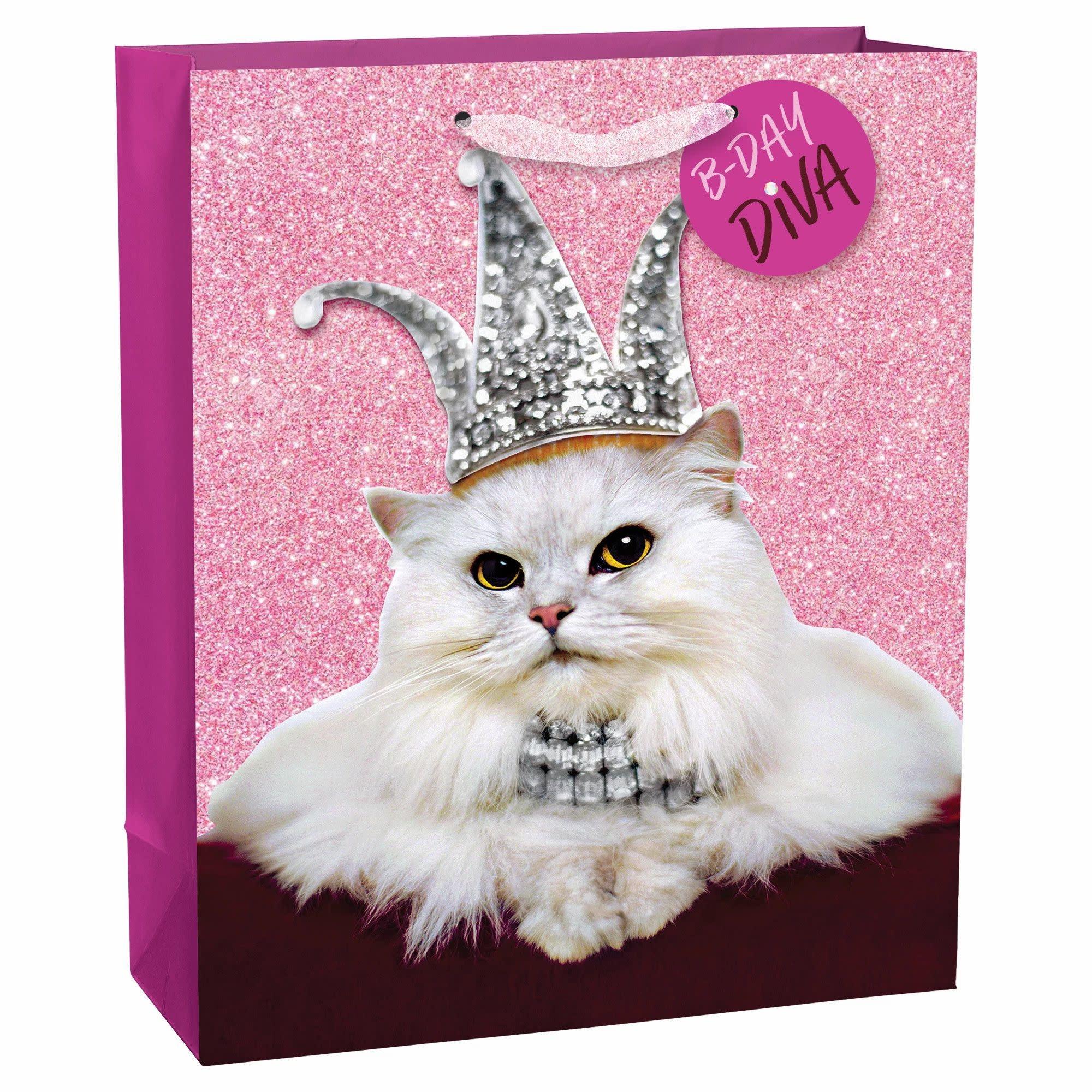 Avanti Press Cat Diva Birthday Super Large Bag W/ Tag