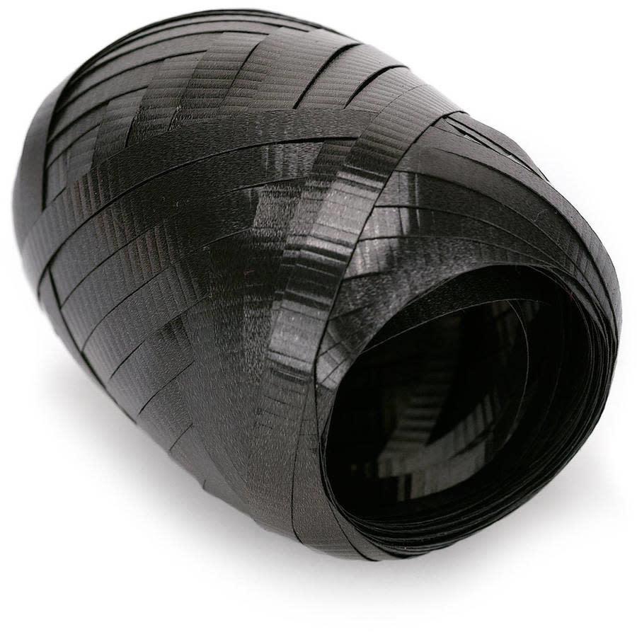 Crimped Curling Ribbon 3/16 Inch Wide X 66 Feet-Black