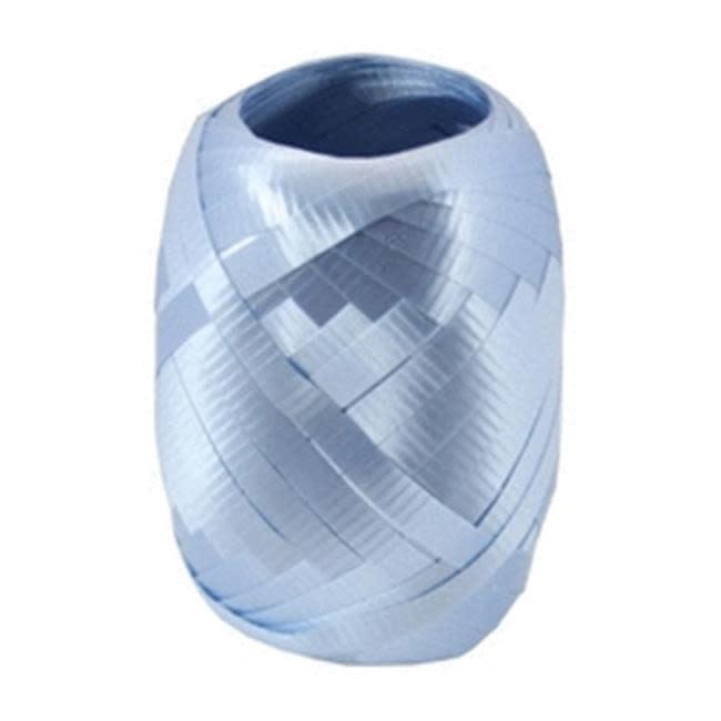 Crimped Curling Ribbon 3/16 Inch Wide X 66 Feet-Light Blue