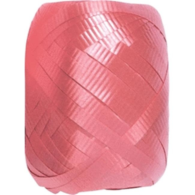Crimped Curling Ribbon 3/16 Inch Wide X 66 Feet-Pink