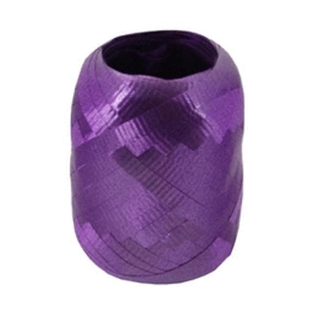 Crimped Curling Ribbon 3/16 Inch Wide X 66 Feet-Purple