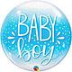"22"" Baby Boy Bubble Mylar Balloon"