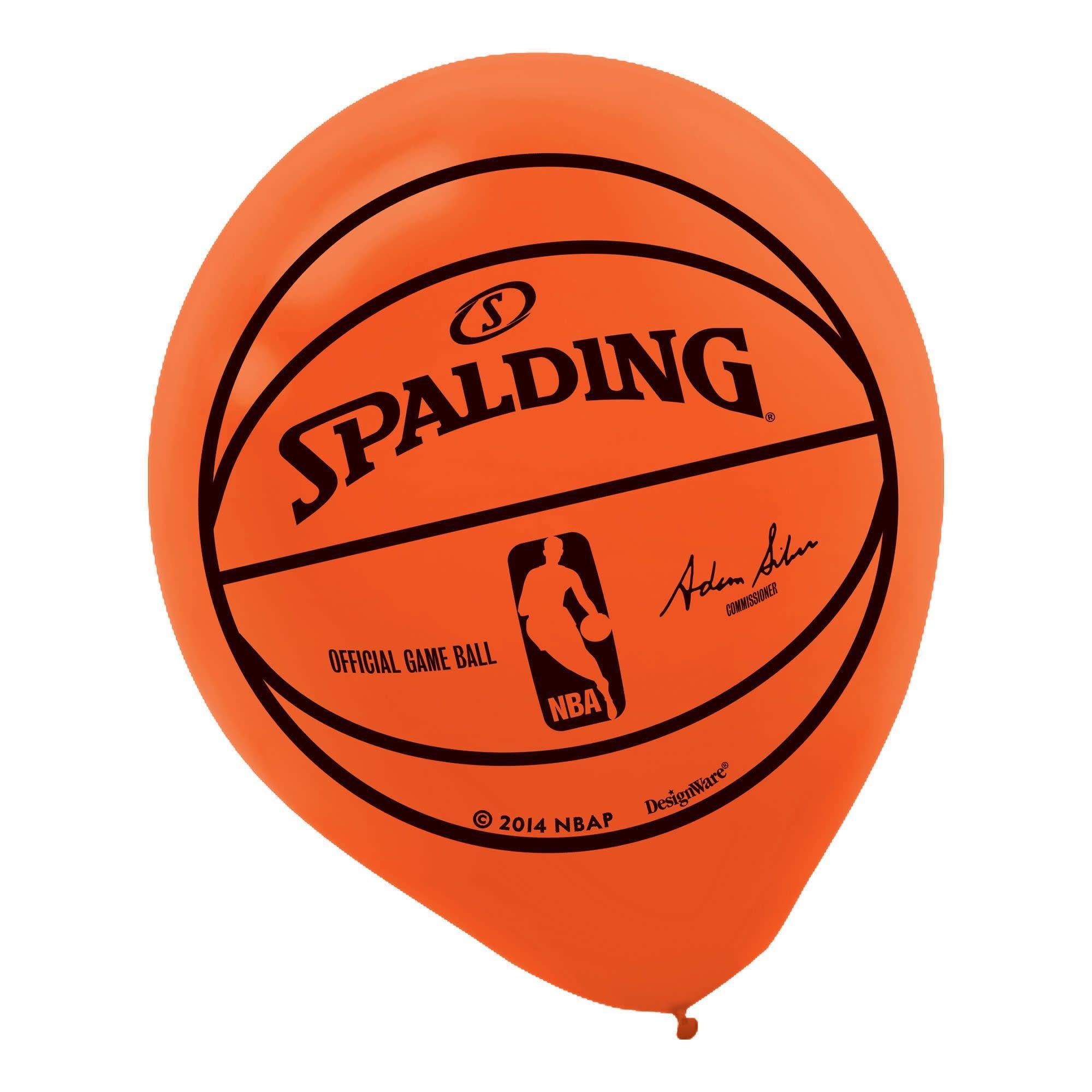 Spalding Basketball Printed Latex Balloons (Latex Only)