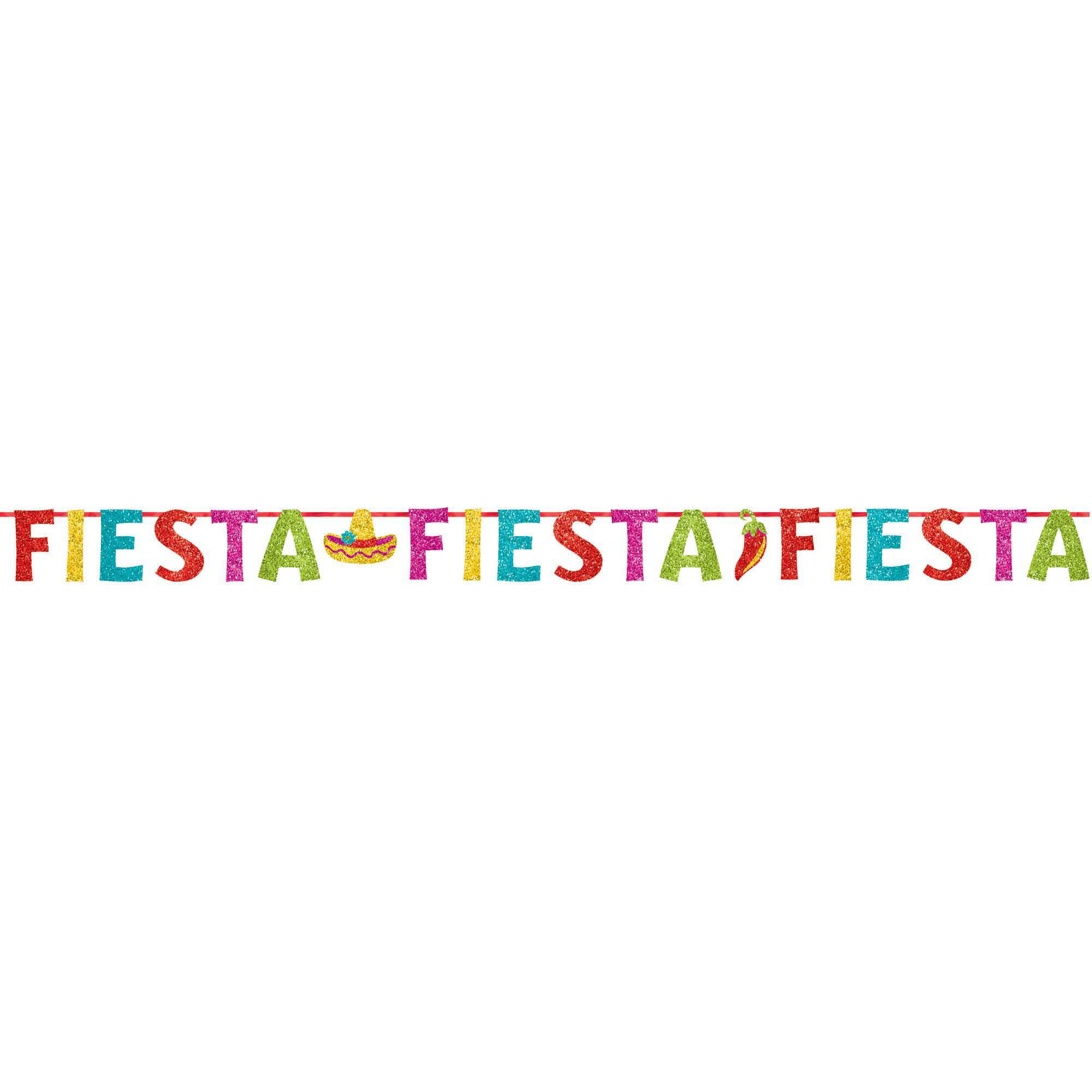 Fiesta Glitter Ribbon Banner