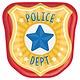 "7"" Police Badge Shaped Plates"