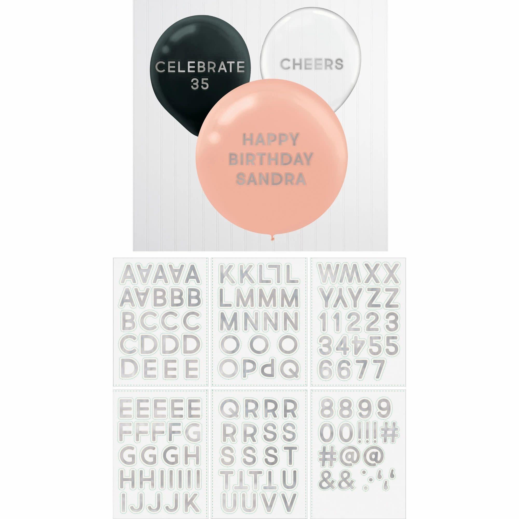 Balloon Stickers - Silver