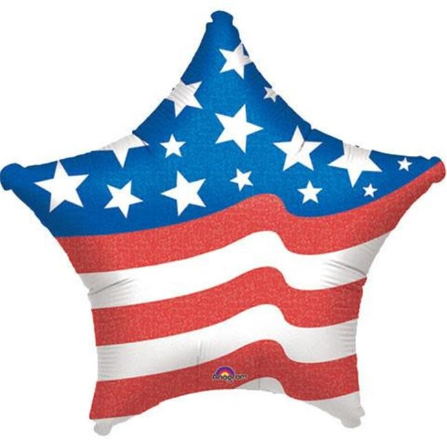 "18"" Mylar Patriotic Star Shape - #381"
