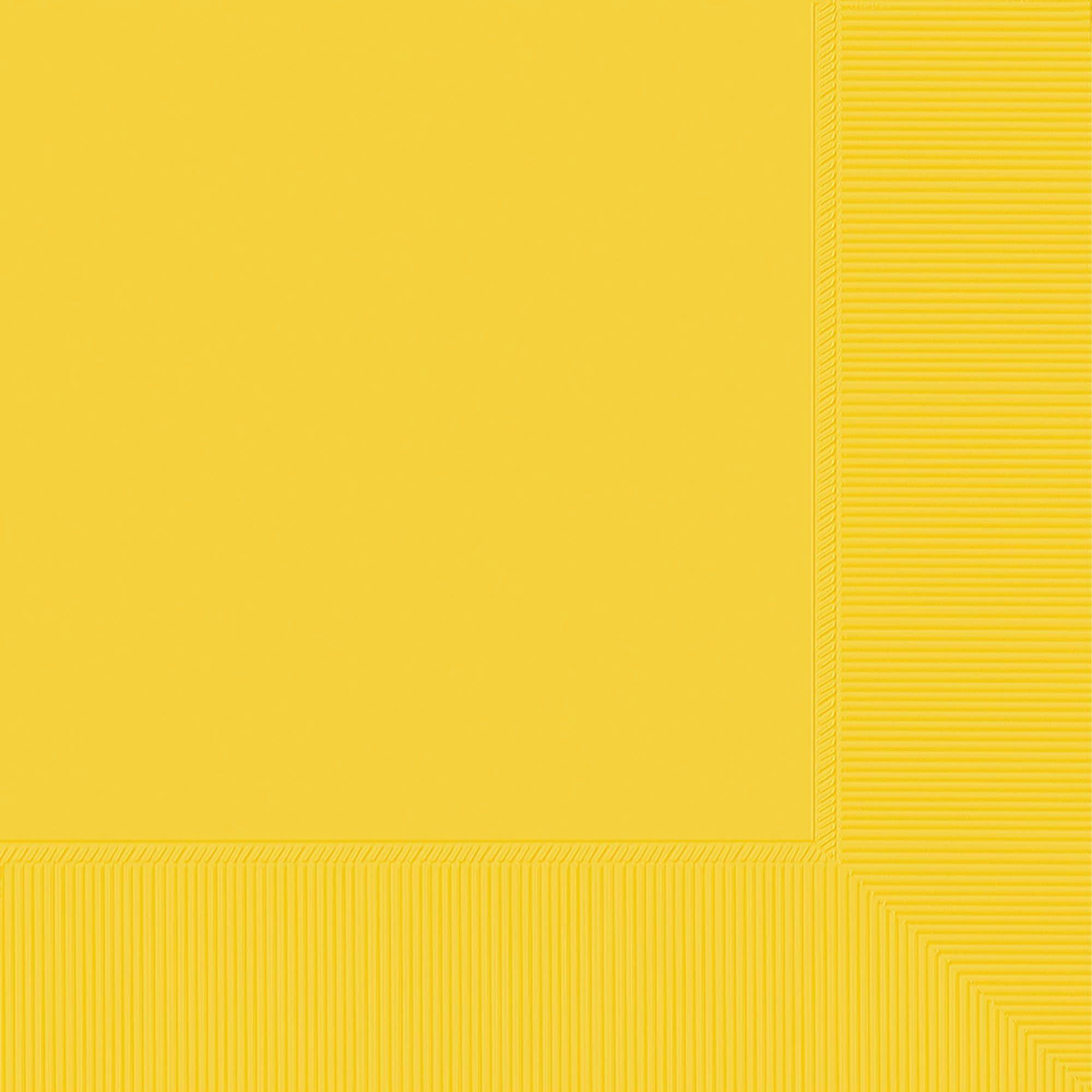 Beverage Napkins, Mid Ct. - Yellow Sunshine