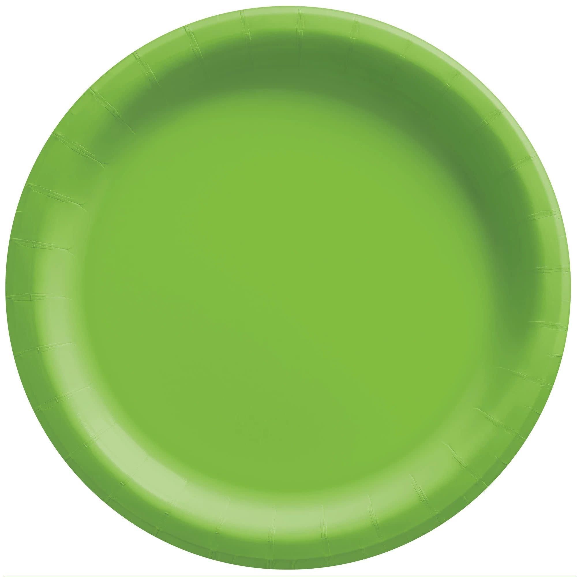 "6 3/4"" Round Paper Plates, Mid Ct. - Kiwi"