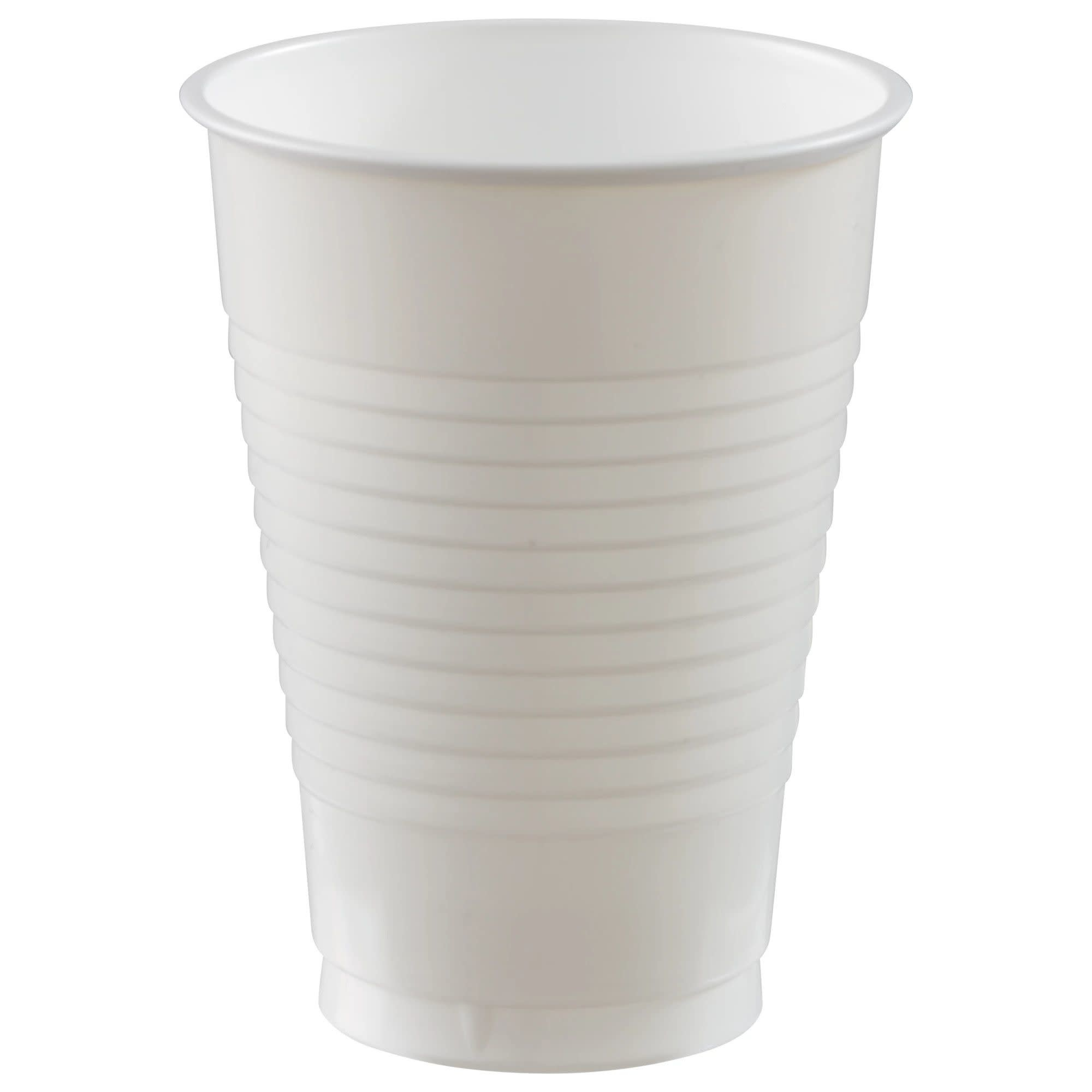 12 Oz. Plastic Cups, Mid Ct. - Frosty White