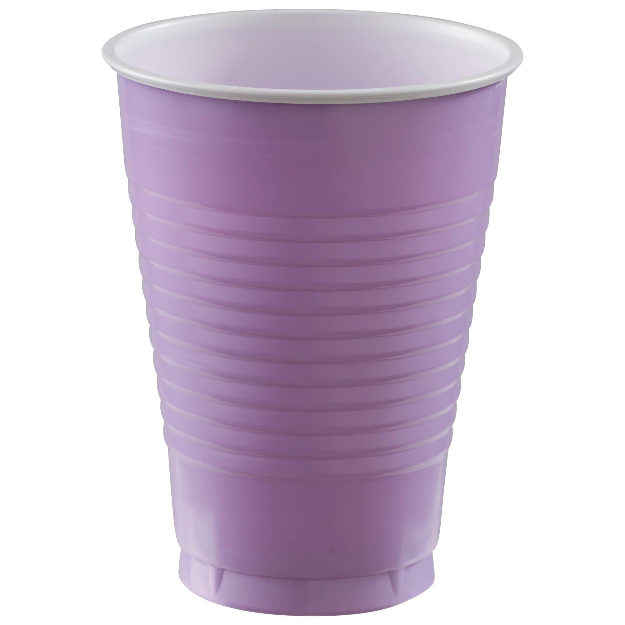 12 Oz. Plastic Cups, Mid Ct. - Lavender