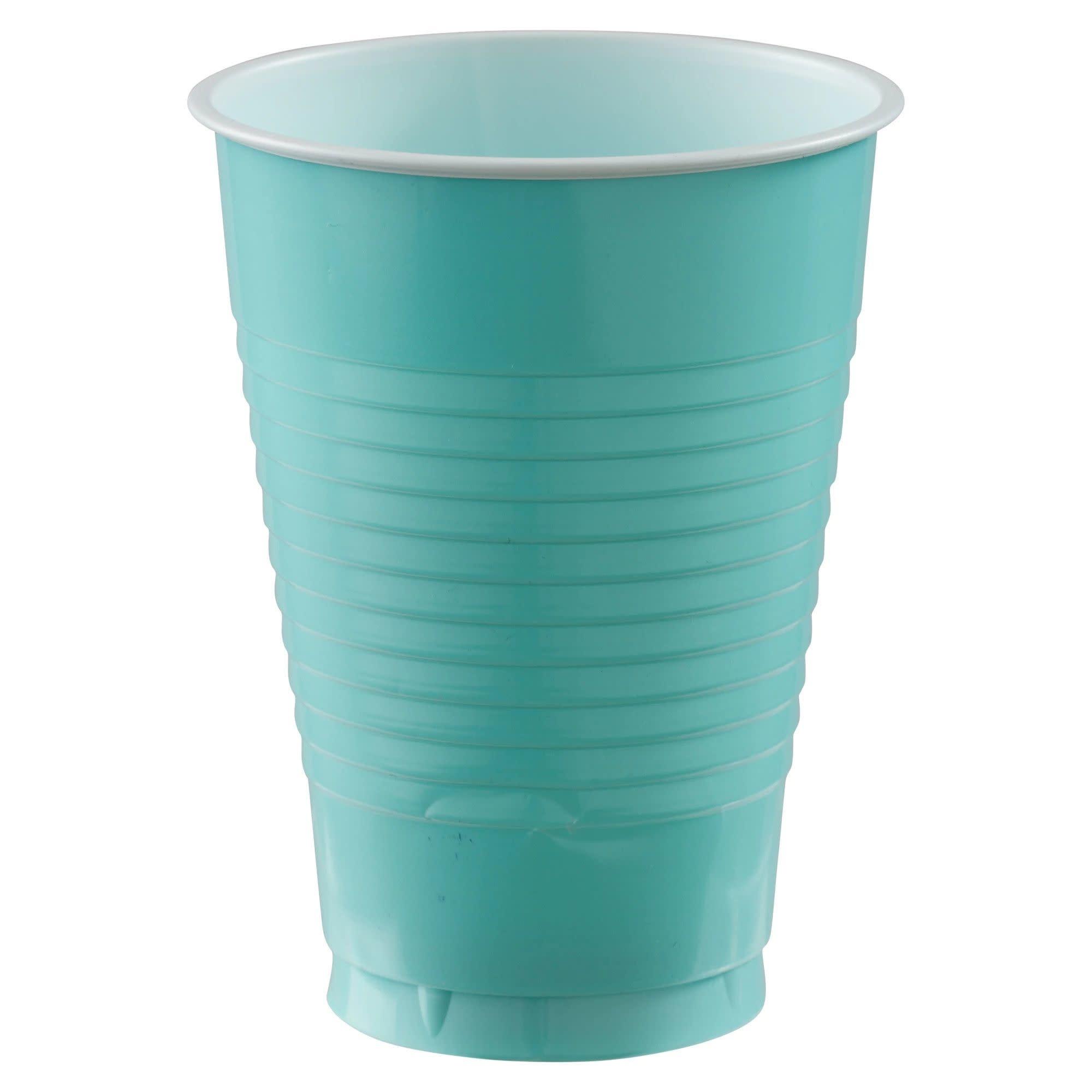 12 Oz. Plastic Cups, Mid Ct. - Robin's-Egg Blue