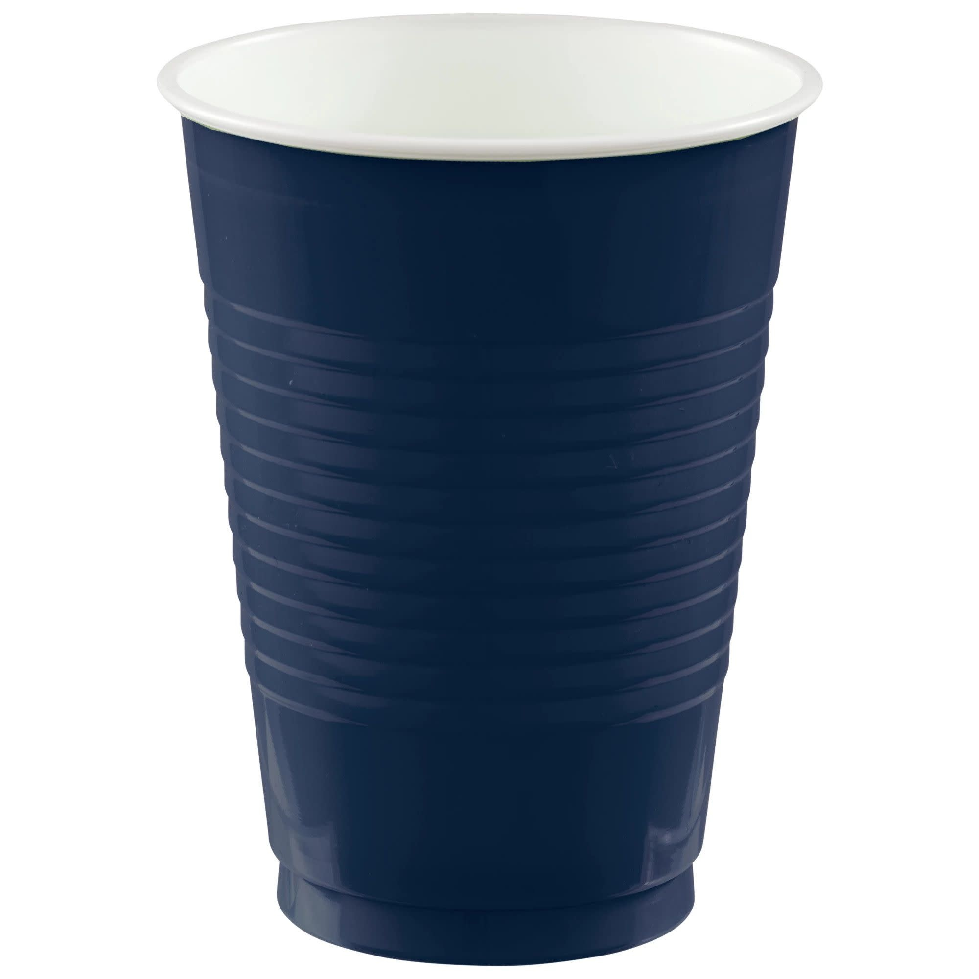 12 Oz. Plastic Cups, Mid Ct. - True Navy
