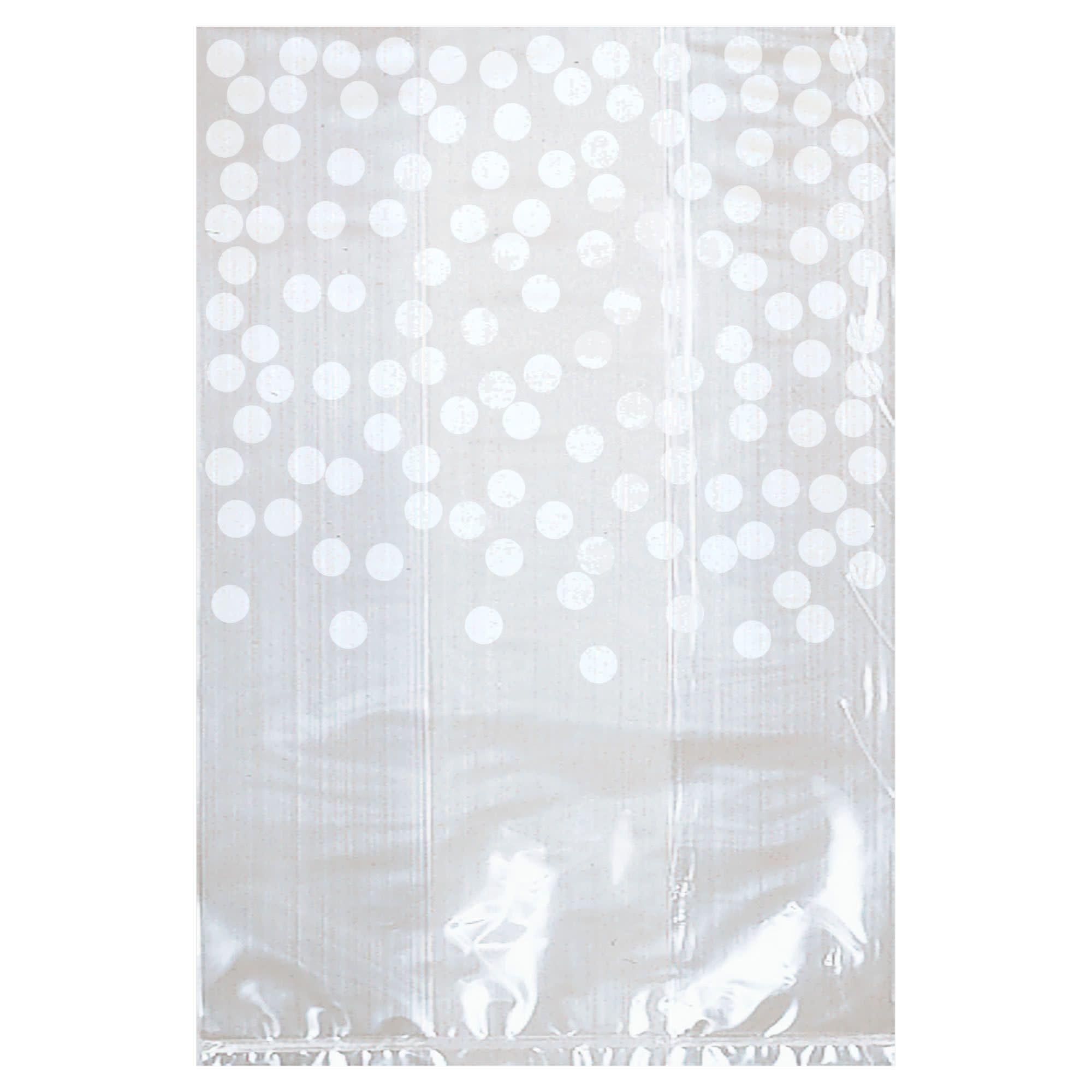 White Cello Bag W/Dots