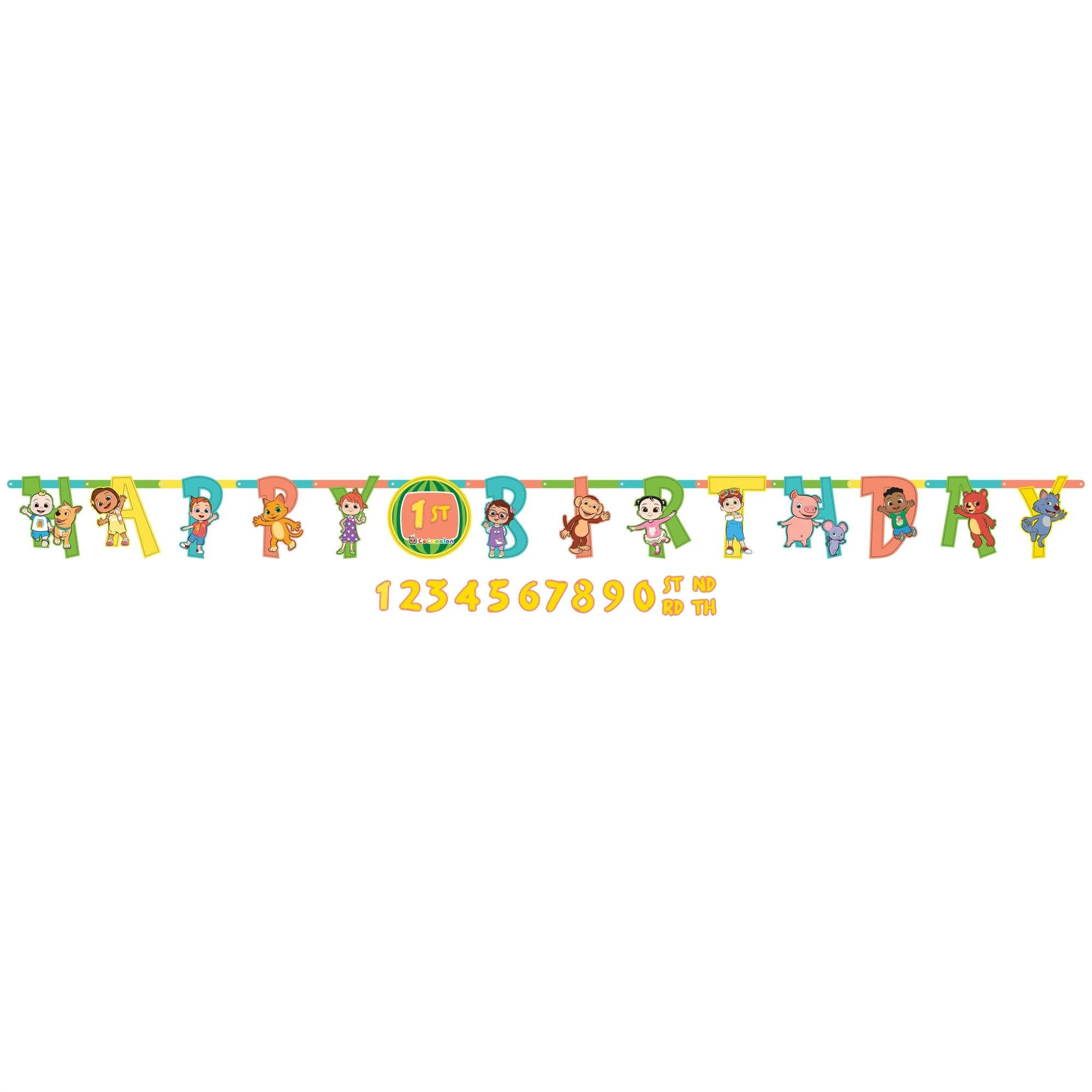 Cocomelon Jumbo Add-An-Age Letter Banner