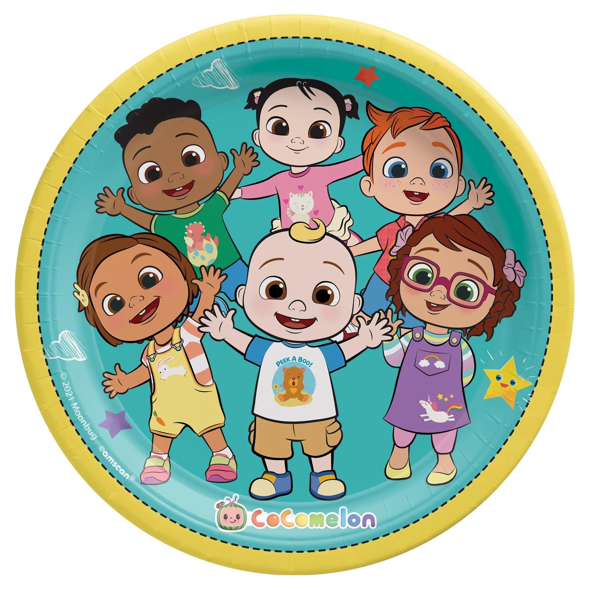 """Cocomelon 9"""" Round Plates"""