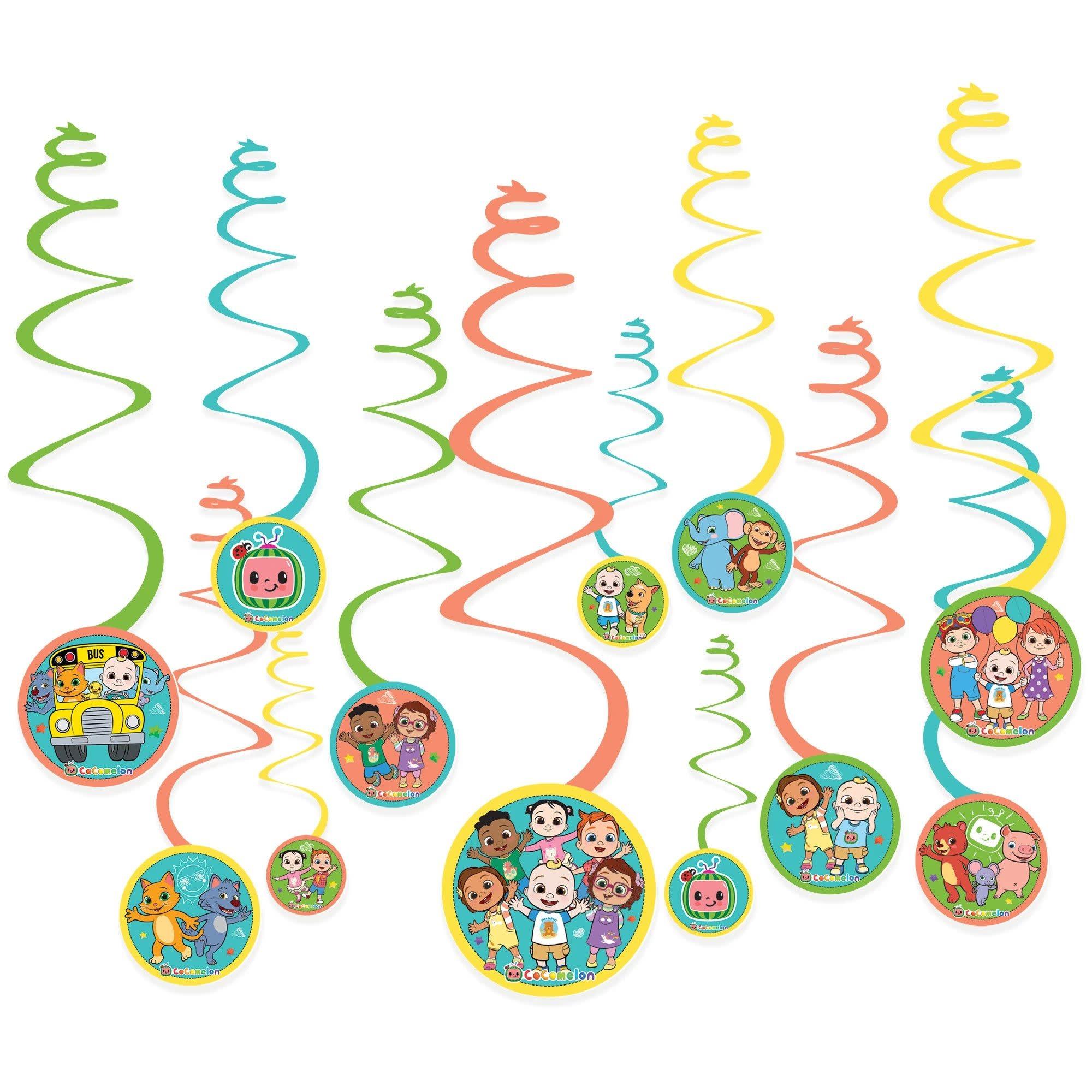 Cocomelon Swirl Decorations
