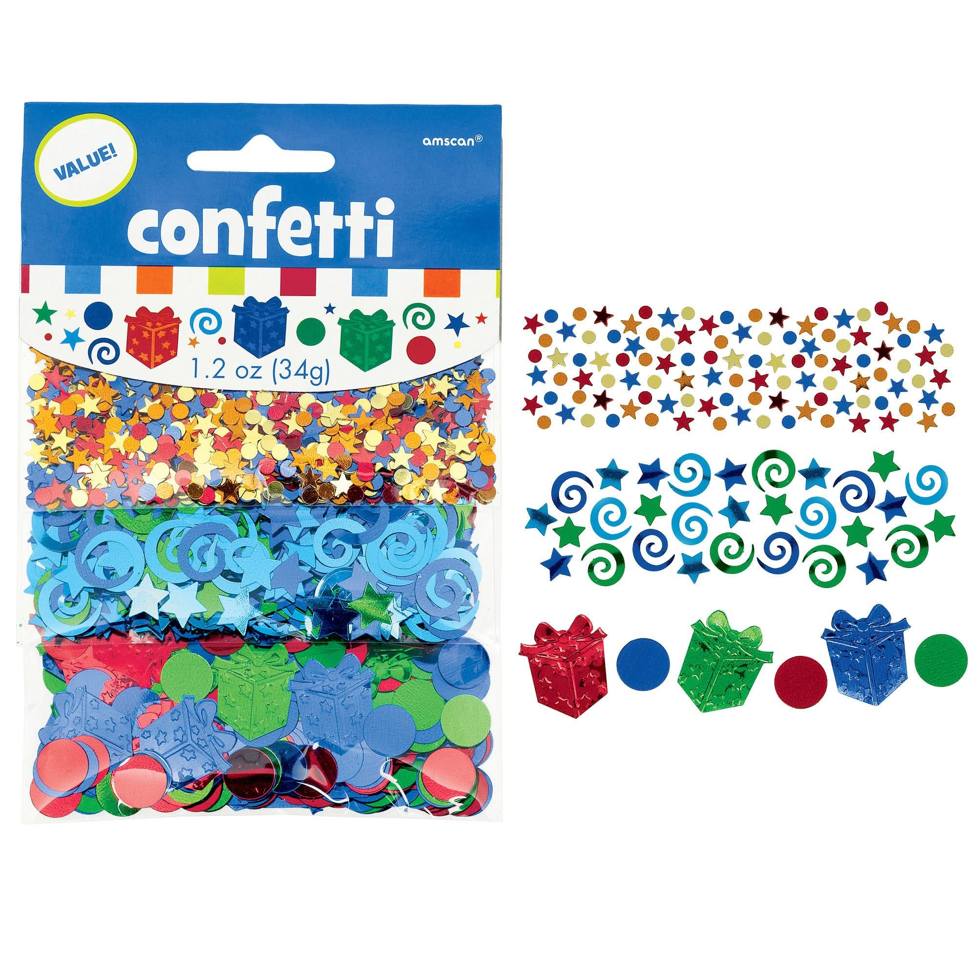 Happy Birthday Boy Metallic Confetti Mix