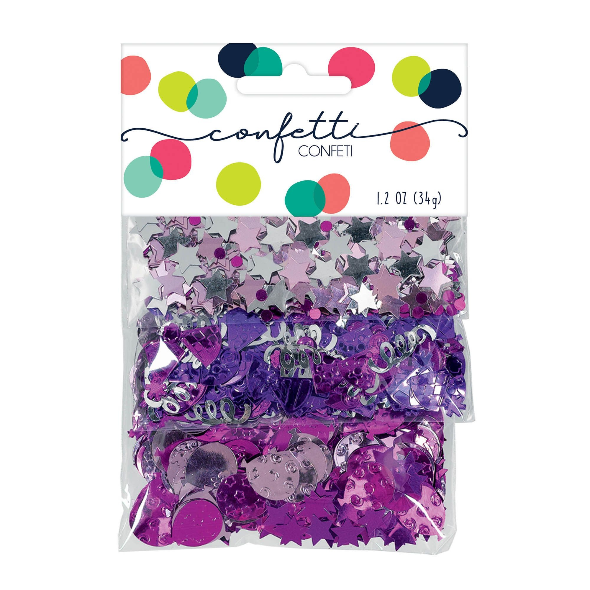 Pink Birthday Celebration Value Pack Confetti Mix