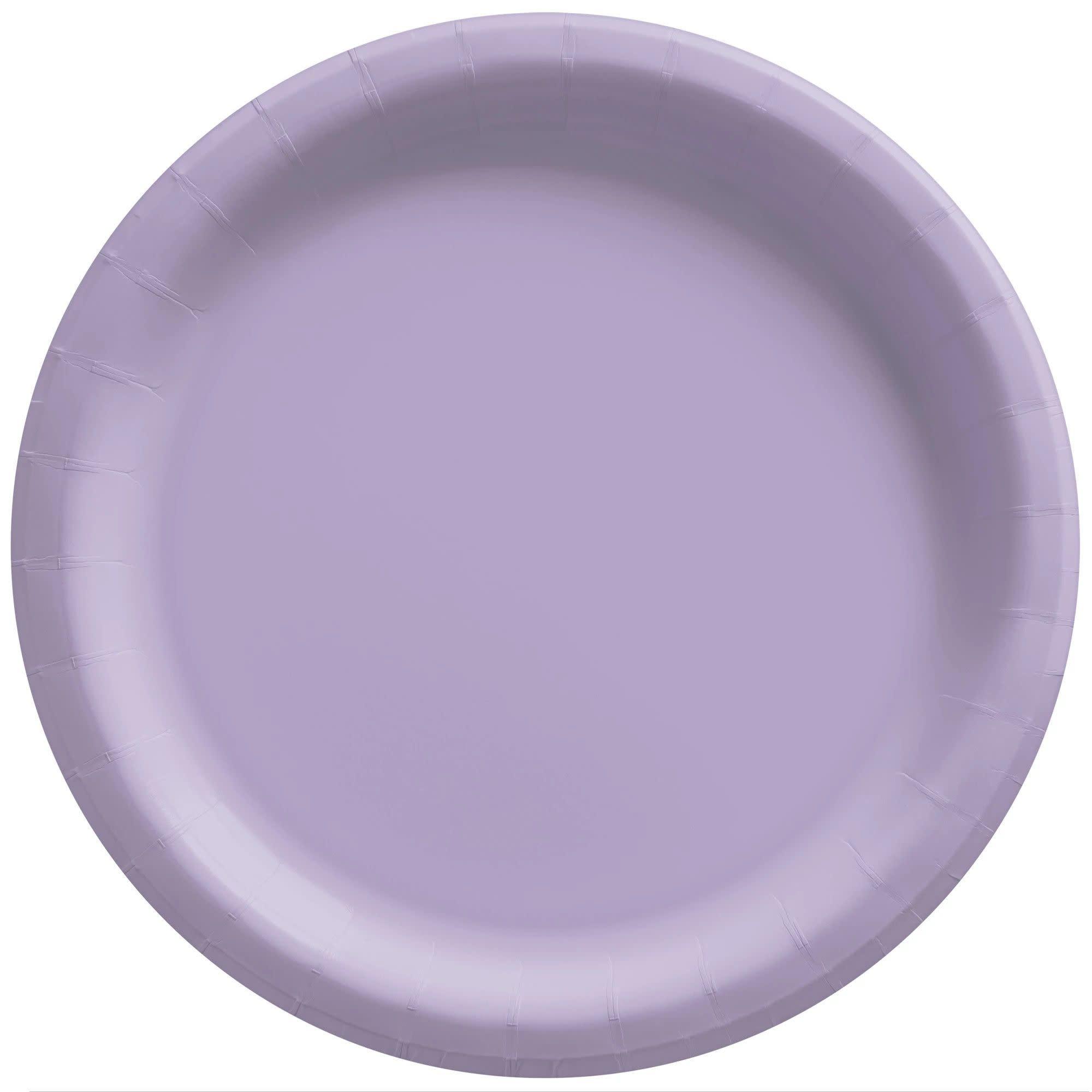 "6 3/4"" Round Paper Plates, Mid Ct. - Lavender"