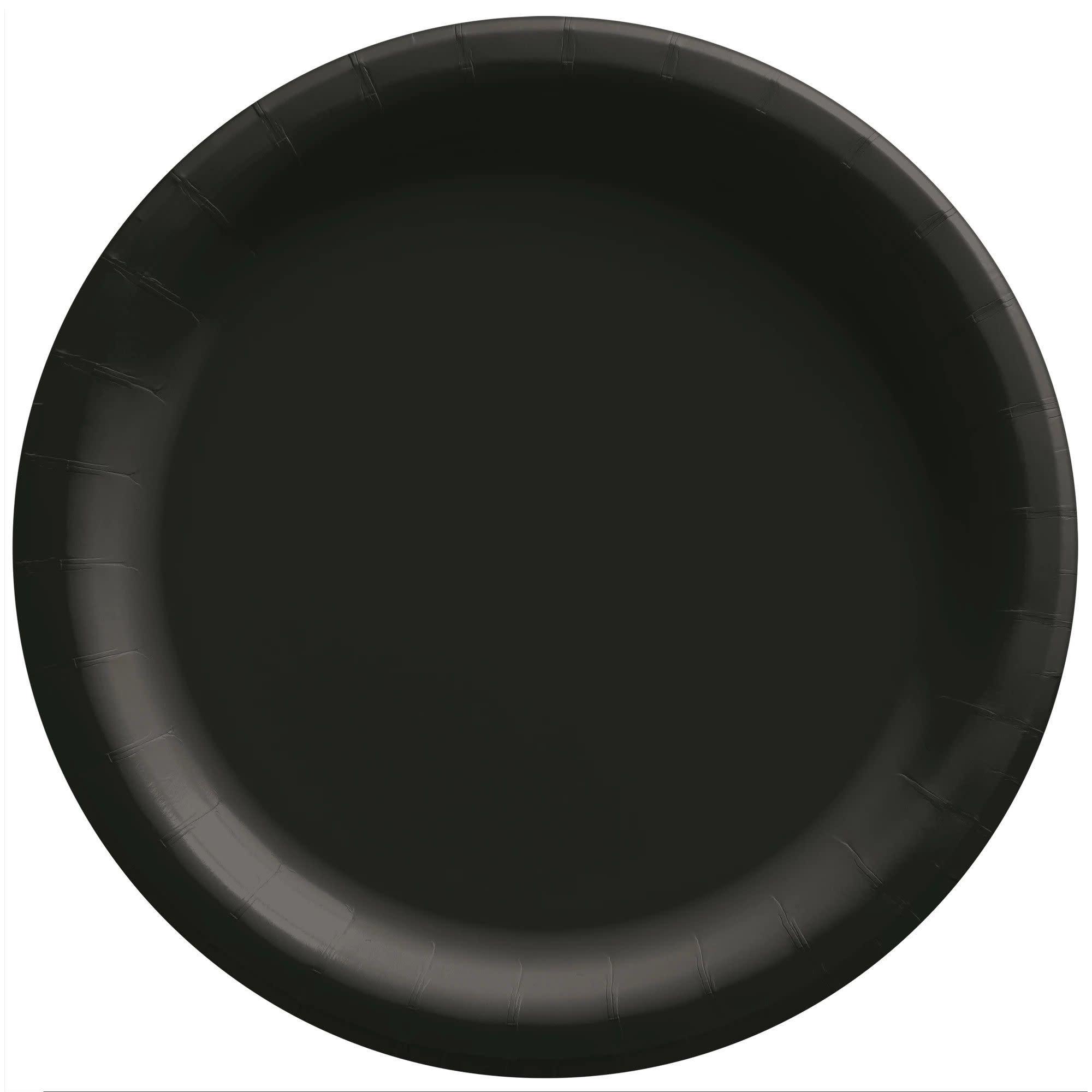 "8 1/2"" Round Paper Plates, Mid Ct. - Jet Black"