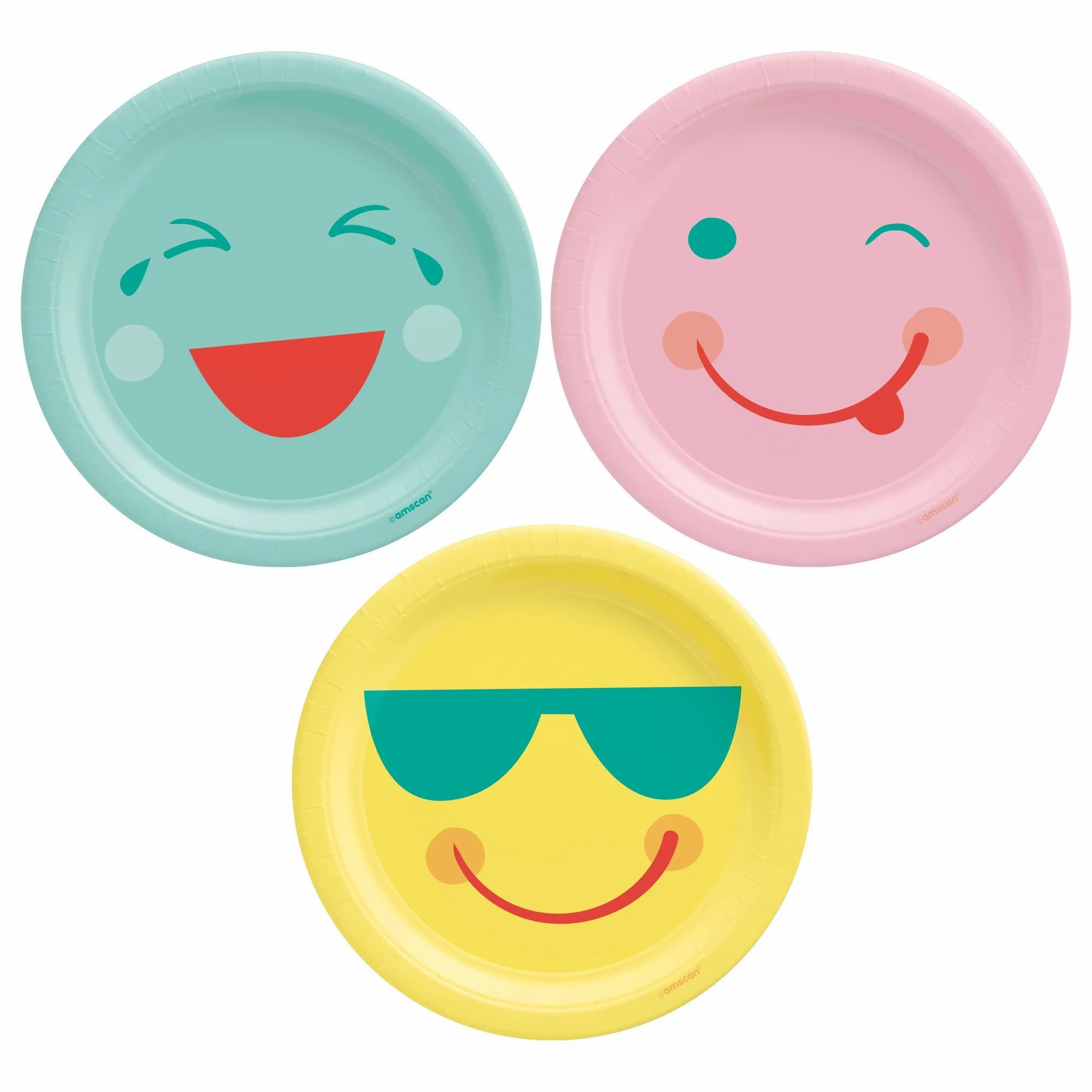 """All Smiles 7"""" Round Plates, Assorted"""