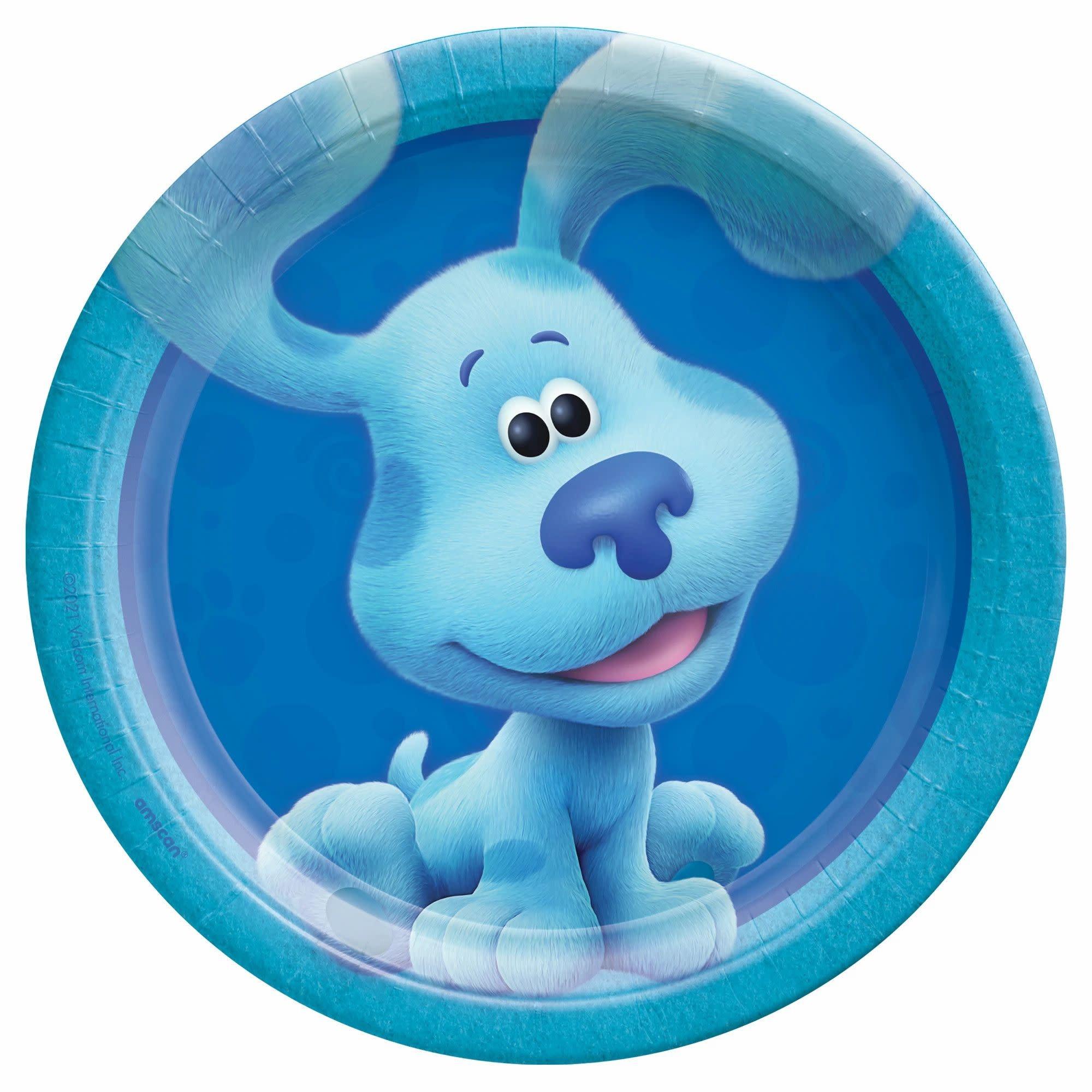"Blues Clues 7"" Round Plates - Blue"