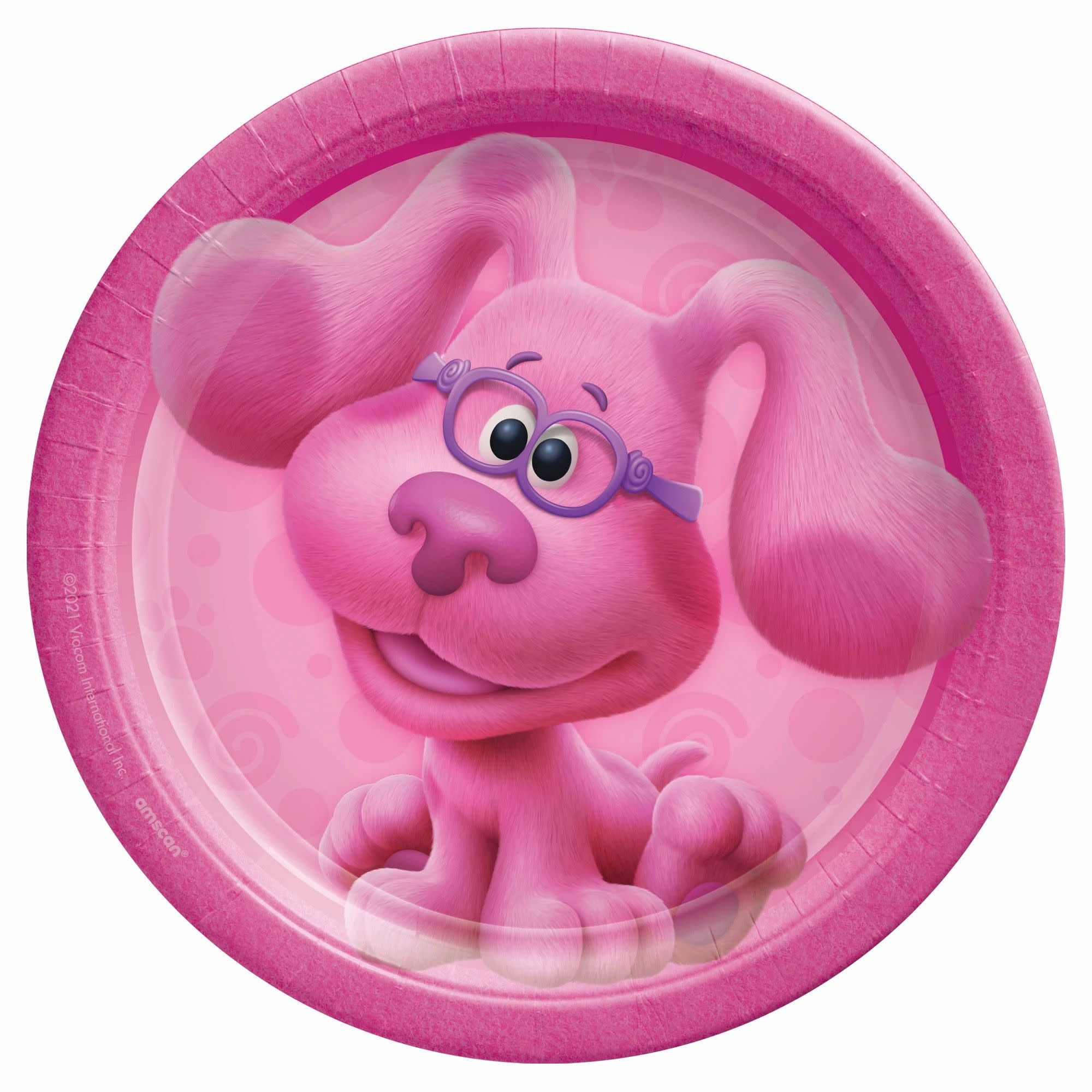 """Blues Clues 7"""" Round Plates - Pink"""