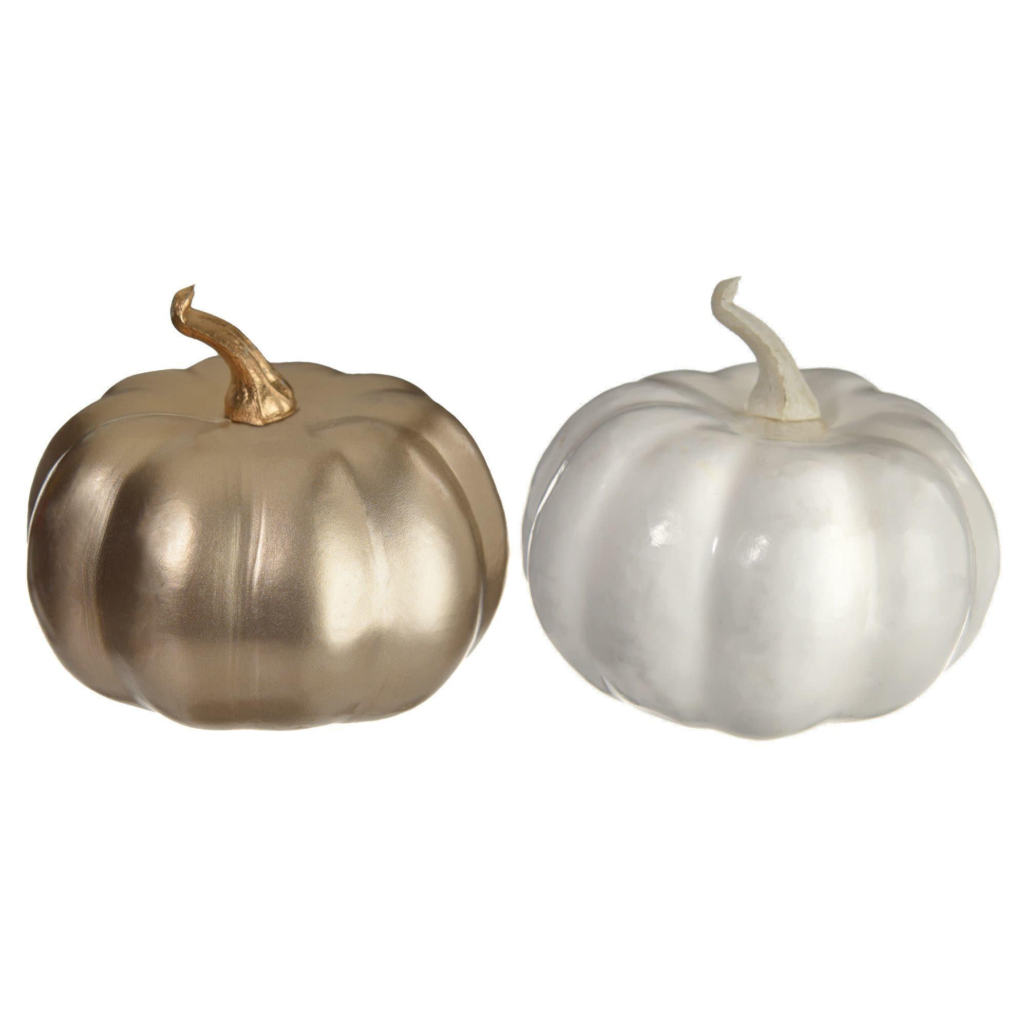 Bag of Mini Pumpkins - Gold/White