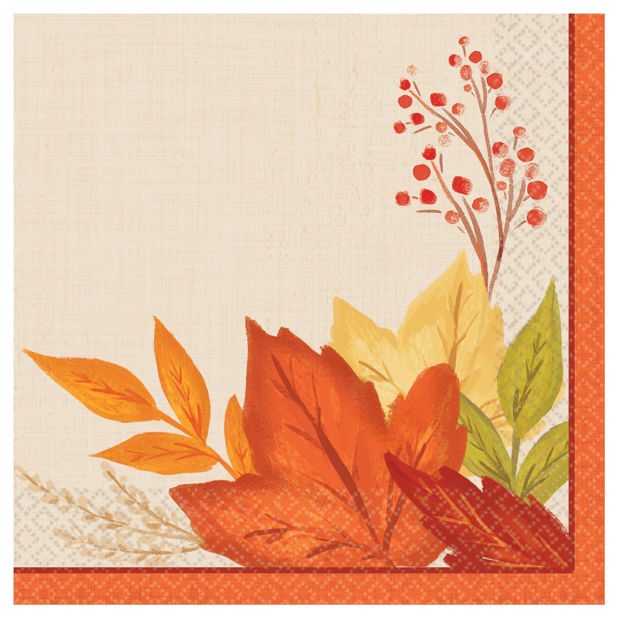 Fall Foliage Beverage Napkins