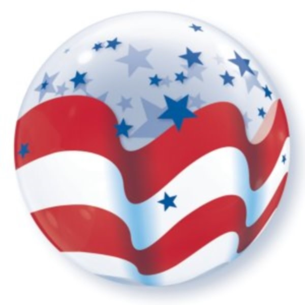 Stars and Stripes Bubble Balloon