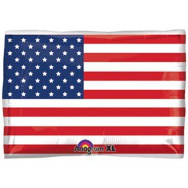 "24"" American Flag Shape Mylar Balloon"