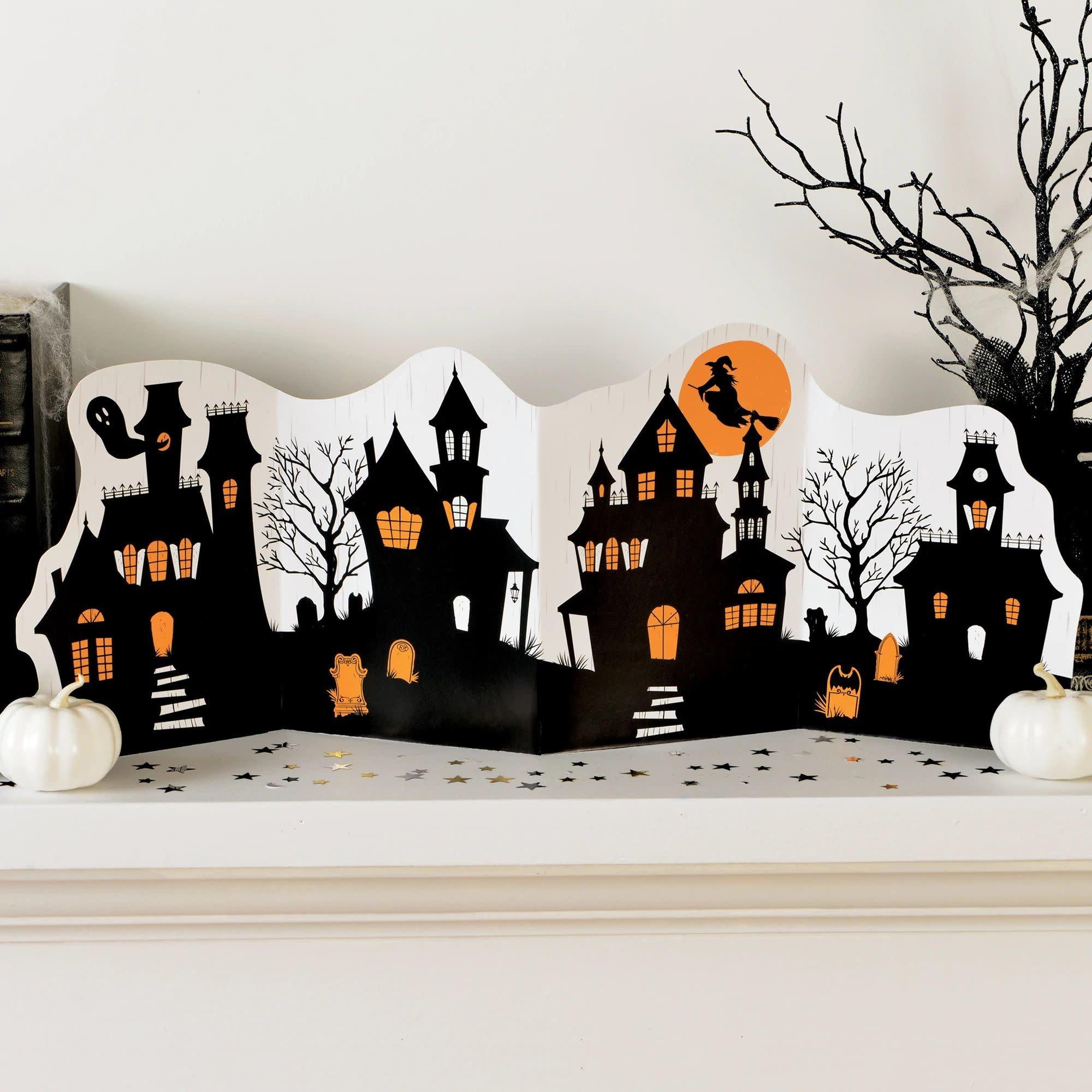 Classic Black & Orange Halloween Folded Accordian Centerpiece Decoration Kit