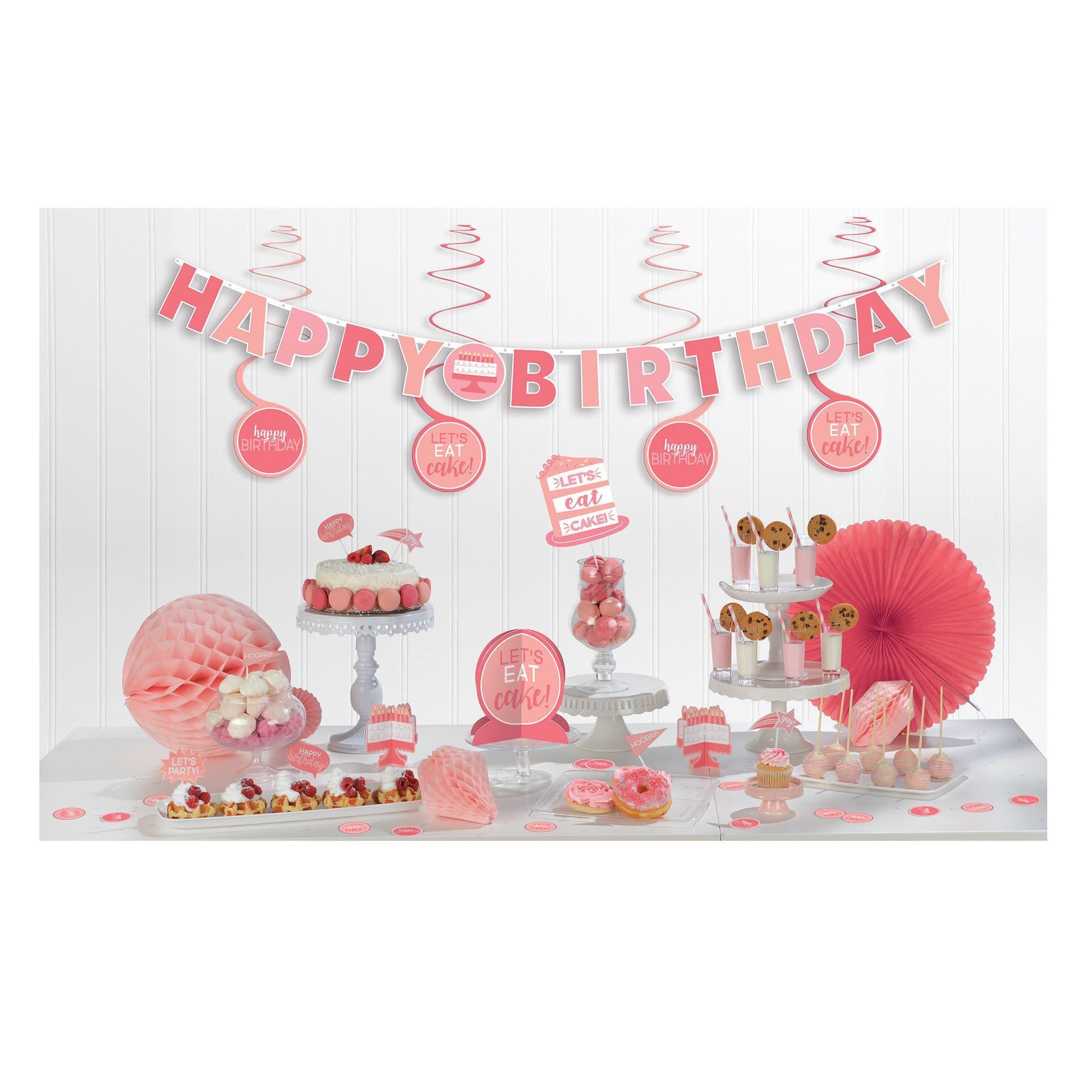 Birthday Accessories Pinks Mini Decorating Kit