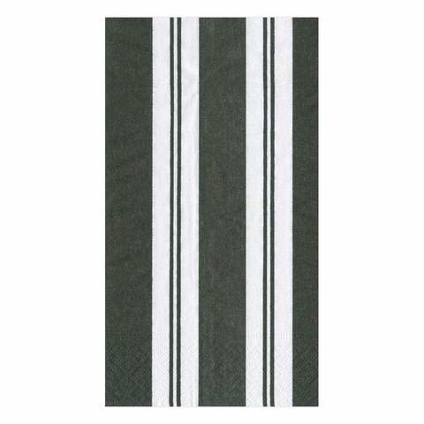 Awning Stripe Paper Guest Towel Napkins in Black & White - 15 Per Package